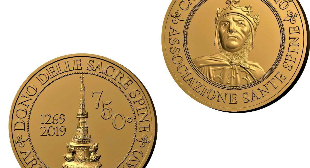 Medaglia Commemorativa 750° Anniversario del Dono delle Sacre Spine Ariano Irpino 1269 – 2019